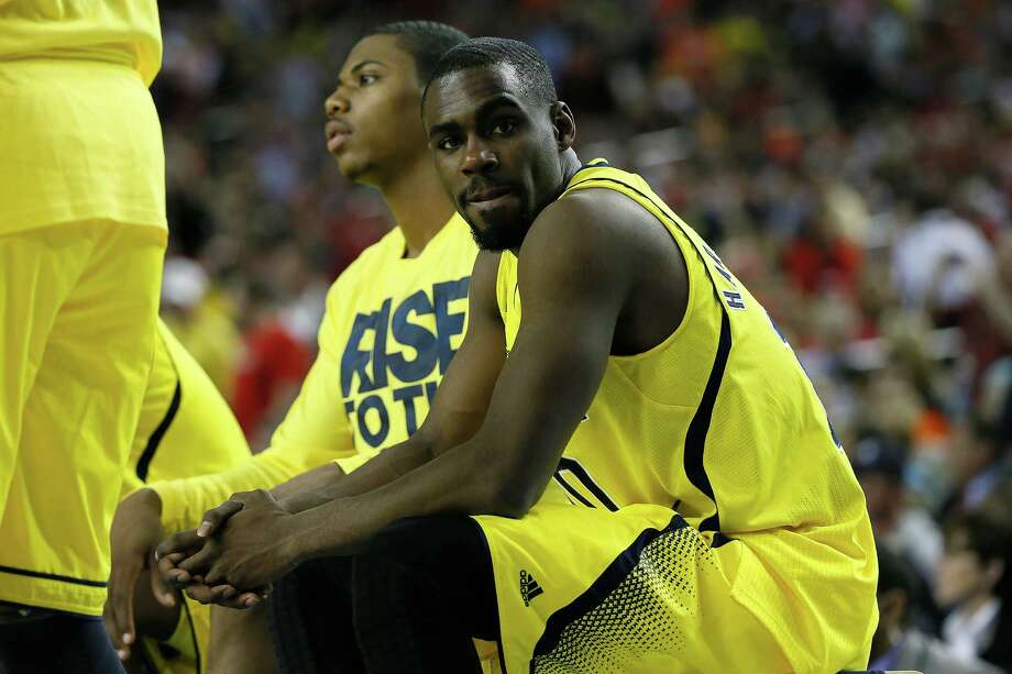 ATLANTA, GA - APRIL 06:  Tim Hardaway Jr. #10 of the Michigan Wolverines looks on against the Syracuse Orange during the 2013 NCAA Men's Final Four Semifinal at the Georgia Dome on April 6, 2013 in Atlanta, Georgia. Photo: Kevin C. Cox, Getty Images / 2013 Getty Images
