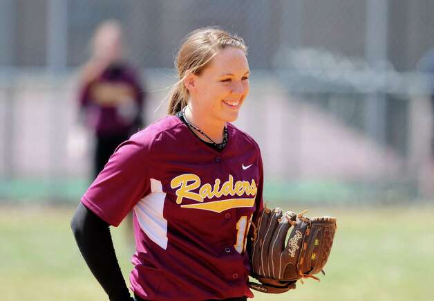 Colonie softball sensation Kelly Lane reacts during a game against Averill Park Friday lunchtime, April 5, 2013. (Will Waldron /Times Union) Photo: Will Waldron