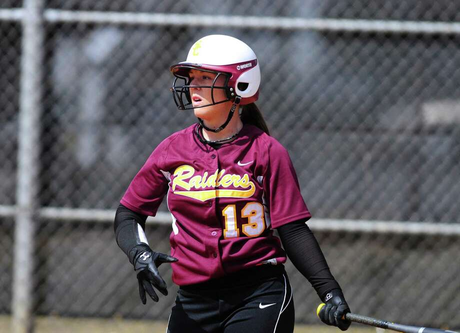 Colonie softball sensation Kelly Lane in action against Averill Park Friday lunchtime, April 5, 2013. (Will Waldron /Times Union) Photo: Will Waldron