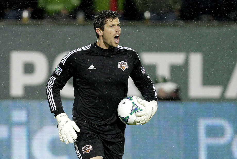 Tally Hall made a crucial stop on a Landon Donovan first-half penalty kick, saving the clean sheet for the keeper. (AP Photo/Don Ryan) Photo: Don Ryan, Associated Press / AP