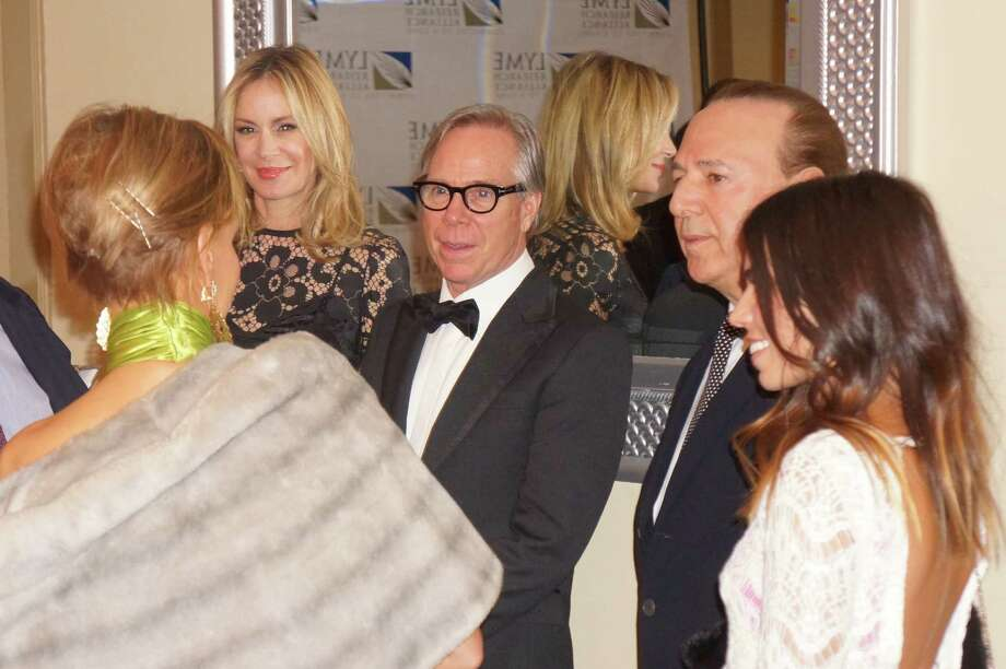 Dee Ocleppa, Tommy Hilfiger, Tommy Mottola, Ally Hilfiger at the Time For Lyme Gala VIP Reception in Greenwich Saturday night? 4/6/2013 Photo: Todd Tracy/ Hearst Connecticut Media Group