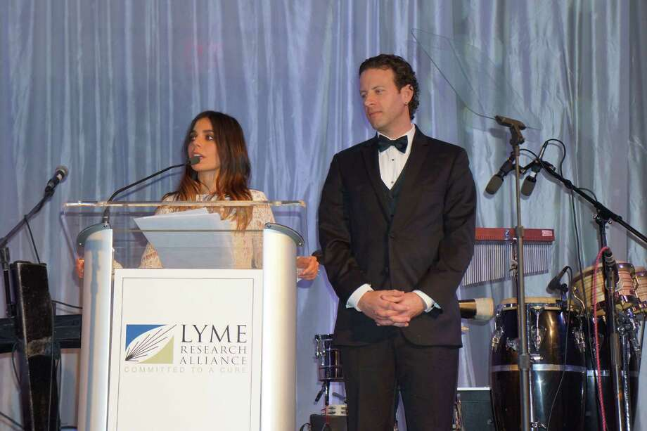 Ally Hilfiger and Mark Hopwood at the Time For Lyme Gala in Greenwich Saturday night? 4/6/2013 Photo: Todd Tracy/ Hearst Connecticut Media Group