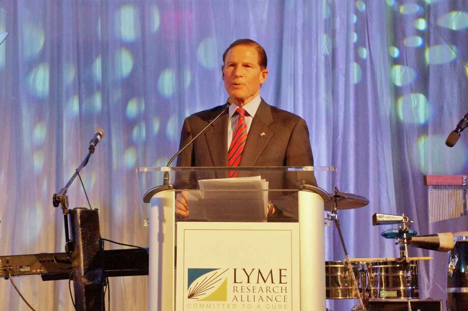 CT Senator Richard Blumenthal at the Time For Lyme Gala in Greenwich Saturday night? 4/6/2013 Photo: Todd Tracy/ Hearst Connecticut Media Group