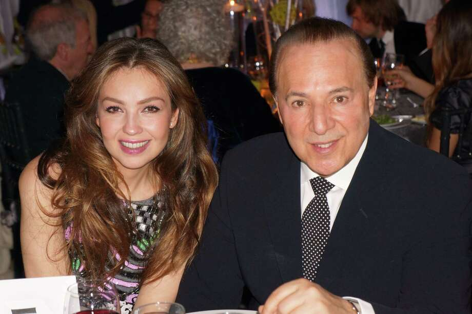 Thalia & Tommy Mottola at the Time For Lyme Gala in Greenwich Saturday night? 4/6/2013 Photo: Todd Tracy/ Hearst Connecticut Media Group