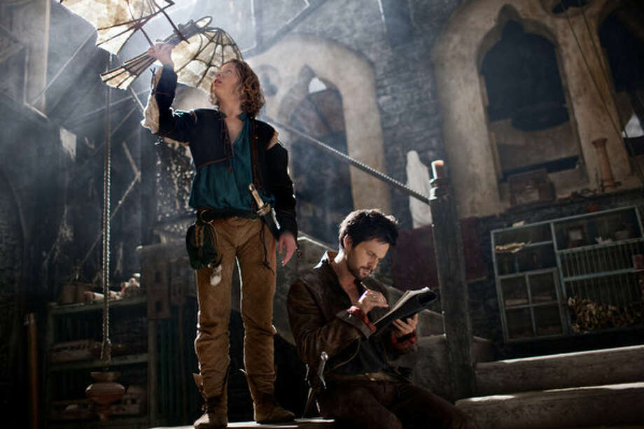 Tom Riley as Leonardo da Vinci works to perfect his flying machine.