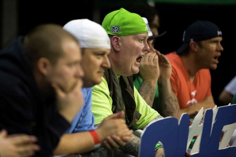 Hundreds cheered on the Seattle Mist during a lingerie football game against the Green Bay Chill Saturday, April 6, 2013, at the ShoWare Center in Kent. Photo: JORDAN STEAD / SEATTLEPI.COM