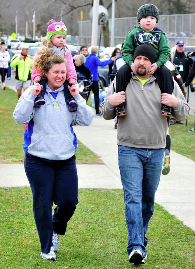 The Stratton Faxon Greater Danbury Half Marathon and 5K race took place in Rogers Park in Danbury, Conn. Sunday, April 7, 2013. Photo: Michael Duffy / The News-Times