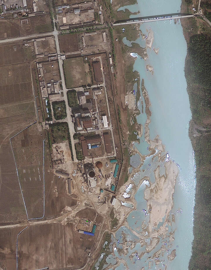 This April 30, 2012 file satellite image provided by GeoEye shows the area around the Nyongbyon nuclear facility in Nyongbyon, also known as Yongbyon, North Korea.  North Korea on Wednesday, April 3, 2013,  barred South Korean workers from entering a jointly run factory park just over the heavily armed border in the North, officials in Seoul said, a day after Pyongyang announced it would restart its long-shuttered plutonium reactor and increase production of nuclear weapons material. Photo: AP