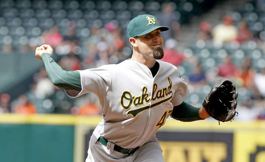 HOUSTON, TX - APRIL 07: Pat Neshek #47 of the Oakland Athletics pitches in the 7th inning against the Houston Astros at Minute Maid Park on April 7, 2013 in Houston, Texas.  (Photo by Thomas B. Shea/Getty Images) Photo: Thomas B. Shea, Getty Images
