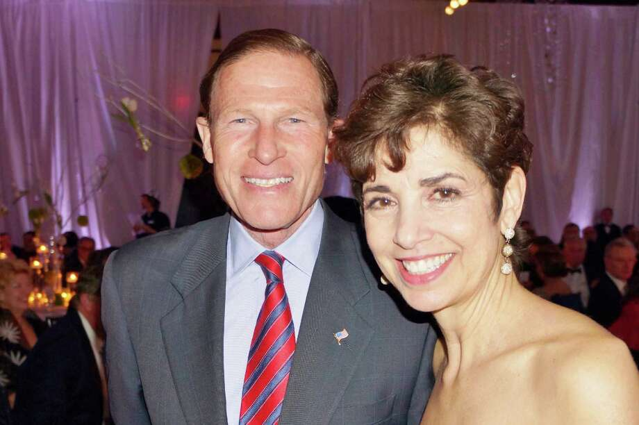 CT Senator Richard Blumenthal and Diane Blanchard at the Time For Lyme Gala in Greenwich Saturday night? 4/6/2013 Photo: Todd Tracy/ Hearst Connecticut Media Group