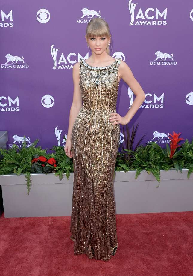 LAS VEGAS, NV - APRIL 07:  Singer Taylor Swift attends the 48th Annual Academy of Country Music Awards at the MGM Grand Garden Arena on April 7, 2013 in Las Vegas, Nevada. Photo: Jason Merritt, Getty Images / 2013 Getty Images