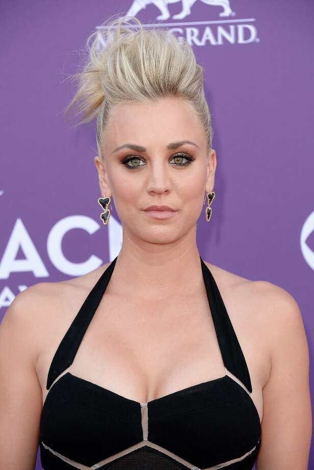 LAS VEGAS, NV - APRIL 07:  Actress Kaley Cuoco arrives at the 48th Annual Academy of Country Music Awards at the MGM Grand Garden Arena on April 7, 2013 in Las Vegas, Nevada. Photo: Jason Merritt, Getty Images / 2013 Getty Images