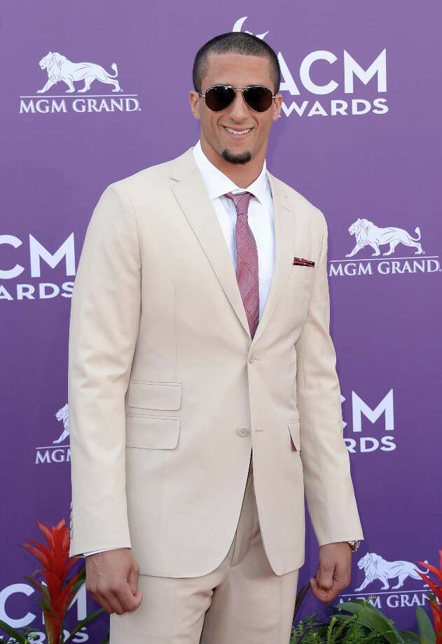LAS VEGAS, NV - APRIL 07:  NFL player Colin Kaepernick attends the 48th Annual Academy of Country Music Awards at the MGM Grand Garden Arena on April 7, 2013 in Las Vegas, Nevada. Photo: Jason Merritt, Getty Images / 2013 Getty Images