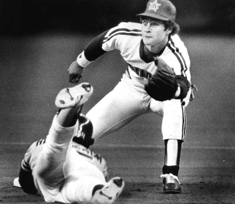 April 9, 1980 -- Mariners 8, Toronto Blue Jays 6 22,588 attendance, also the season opener.The M's jumped all over Toronto starter Dave Lemanczyk and ended up slapping 12 hits -- including a home run and a triple by right fielder Joe Simpson -- around the Kingdome.Photo: Seattle second baseman Julio Cruz waits for the ball as Rickey Henderson of the Oakland A's slides safely into second base in 1981. Henderson led the league with 100 stolen bases in 1980. Photo: Seattle P-I Archives