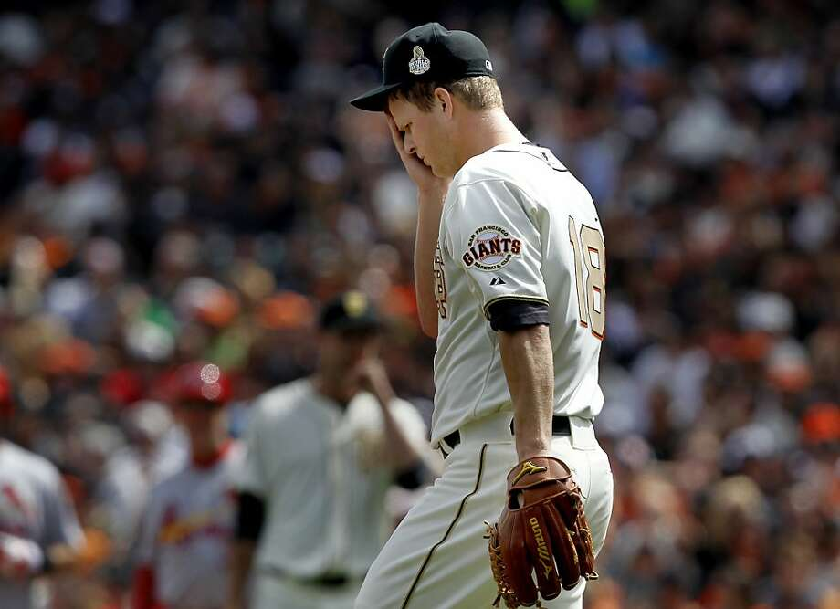 Matt Cain was cruising for three innings, and then ... Photo: Brant Ward, The Chronicle