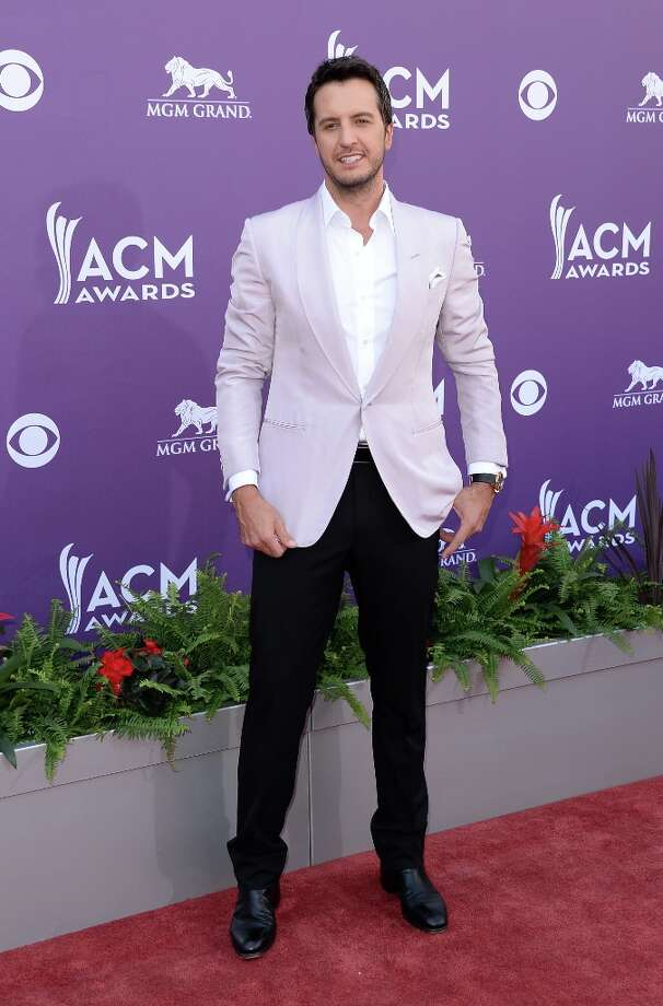 LAS VEGAS, NV - APRIL 07:  Host Luke Bryan arrives at the 48th Annual Academy of Country Music Awards at the MGM Grand Garden Arena on April 7, 2013 in Las Vegas, Nevada. Photo: Jason Merritt, Getty Images / 2013 Getty Images
