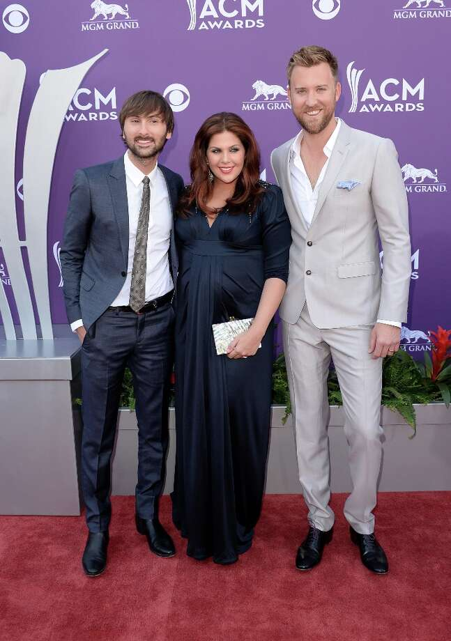 LAS VEGAS, NV - APRIL 07:  (L-R) Dave Haywood, Hillary Scott, and Charles Kelley of music group Lady Antebellum arrive at the 48th Annual Academy of Country Music Awards at the MGM Grand Garden Arena on April 7, 2013 in Las Vegas, Nevada. Photo: Jason Merritt, Getty Images / 2013 Getty Images