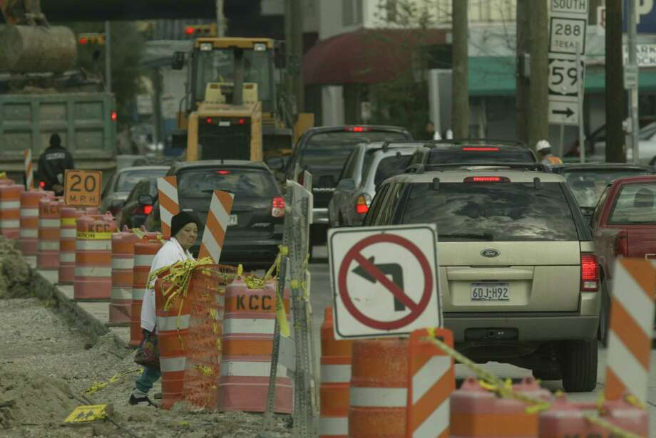 To finish the road construction once and for all. We have a sneaking suspicion that it's the culprit behind Houston's infamous traffic. Photo: John Everett, Houston Chronicle / Houston Chronicle