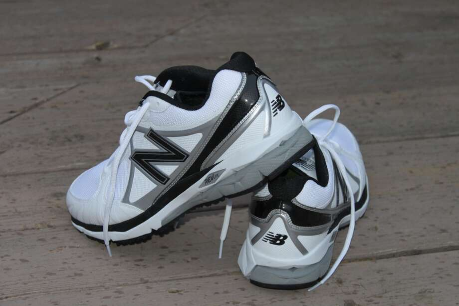 A comfortable pair of cross-trainers  to wear for batting practice.