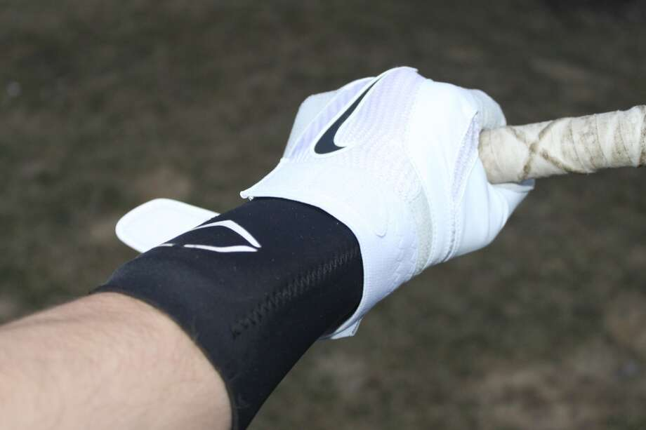 A top view of an Evoshield wrist guard.