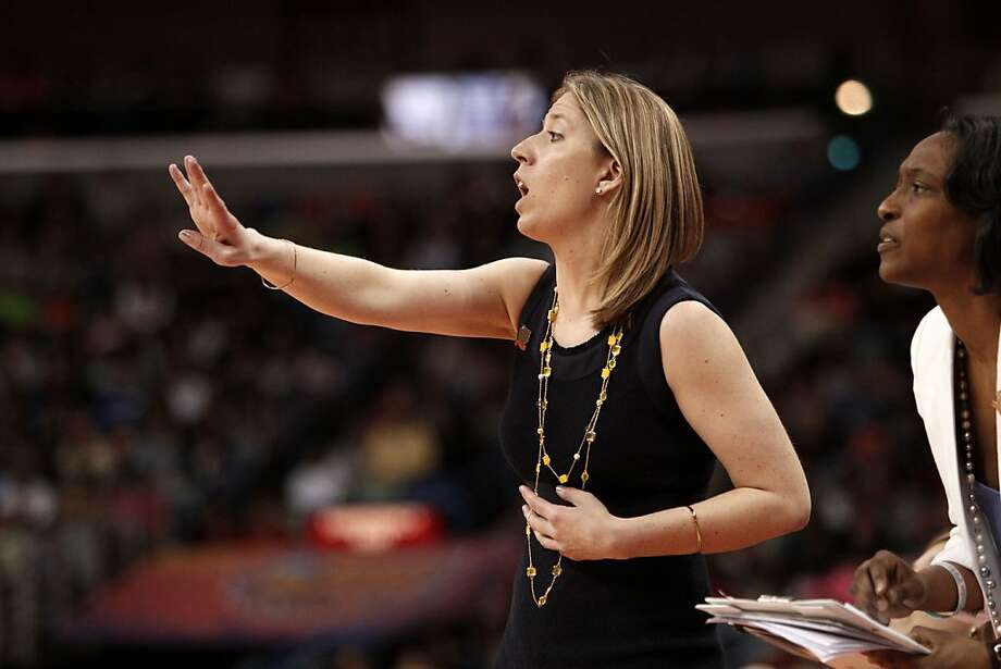 California's head coach Lindsay Gottlieb calls plays as the Cal Berkeley women's basketball team went on to lose to the Louisville Cardinals in the national semi-final game 64-57  in the NCAA Final Four Basketball Tournament in New Orleans, La. on Sunday April 7, 2013. Photo: Michael Macor, The Chronicle