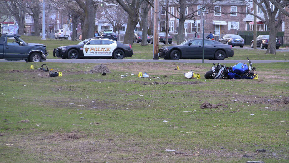 Bridgeport police are investigating a fatal hit-and-run accident that occurred at the intersection of Boston Avenue and Orchard Street on Sunday afternoon. Photo: Stephen Krauchick/DoingItLocal.c / Connecticut Post contributor