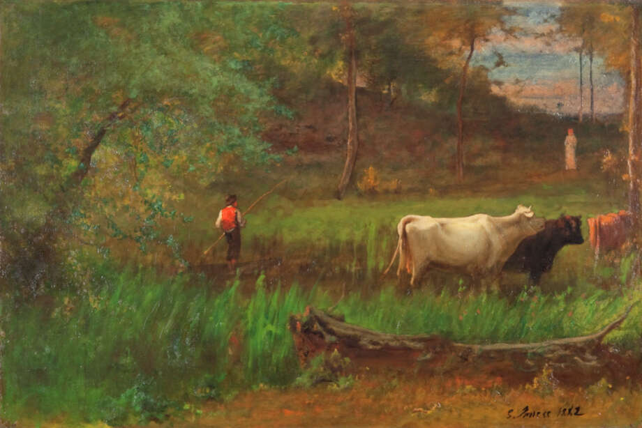 George Inness, A Pastoral, c. 1882–85. Oil on canvas. The Clark. Gift of Frank and Katherine Martucci, 2013.1.3 Photo: Peter Jacobs / Copyright: