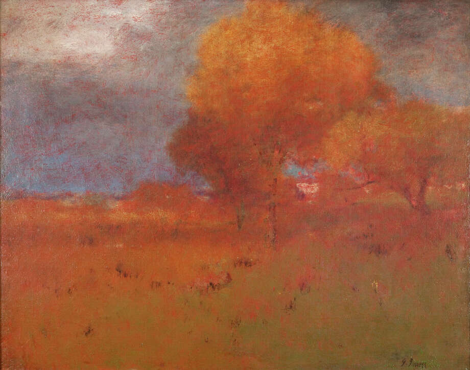 George Inness, Autumn in Montclair, c. 1894. Oil on canvas. The Clark. Gift of Frank and Katherine Martucci, 2013.1.8 Photo: Peter Jacobs / Copyright: