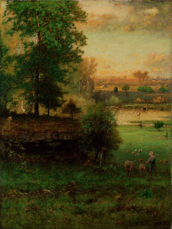 George Inness, Scene at Durham, an Idyl, 1882–85. Oil on canvas. The Clark. Gift of Frank and Katherine Martucci, 2013.1.4