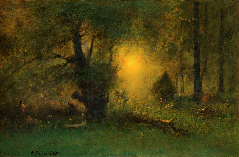 George Inness, Sunrise in the Woods, 1887. Oil on canvas. The Clark. Gift of Frank and Katherine Martucci, 2013.1.6