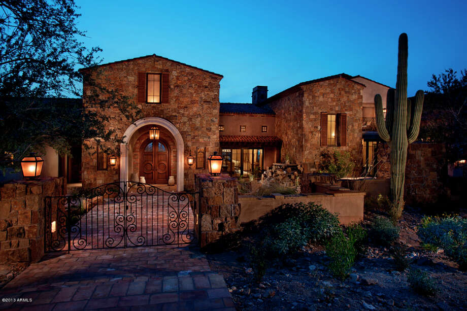 This $ 24.5 million newly built estate in Scottsdale, AZ has 6 bedrooms and 15 bathrooms.