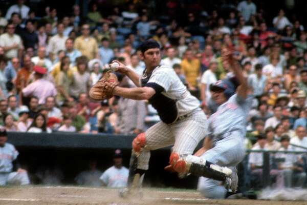 15. Thurman Munson, Yankees. Surprisingly the only one retired with that number. The catcher's career was tragically cut short when he died in a plane crash.
