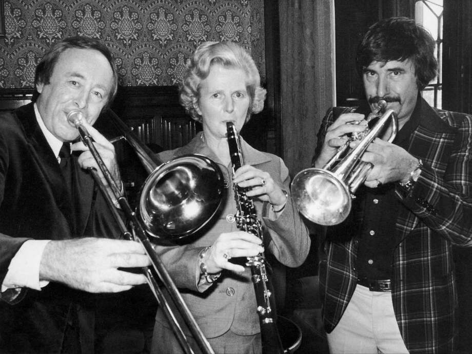 The future British Prime Minister, then leader of the Opposition, accompanying on clarinet in 1976. Photo: Keystone-France, File / Gamma-Keystone