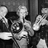 The future British Prime Minister, then leader of the Opposition, accompanying on clarinet in 1976.