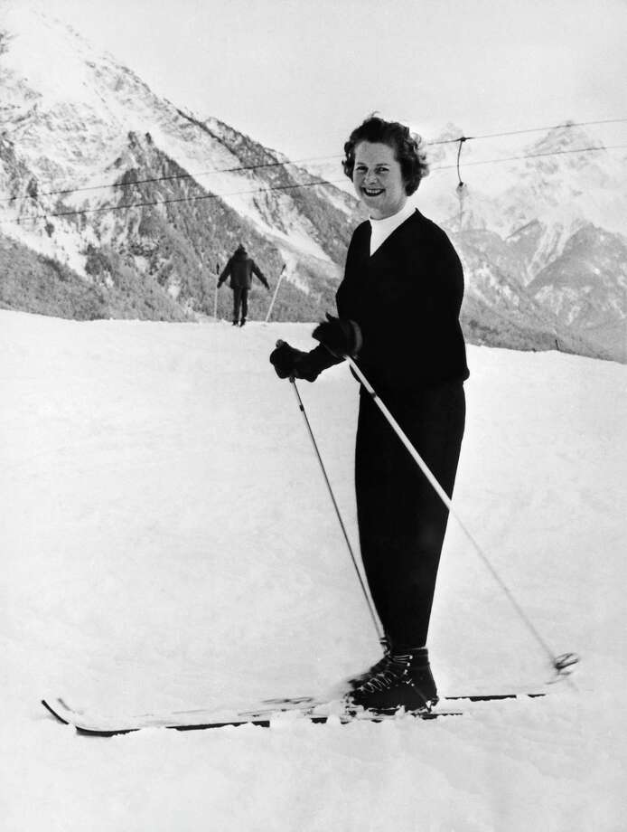 Margaret Thatcher, then parliamentary secretary to the Ministry of Pensions and National Insurance, on vacation at the mountains in 1962. Photo: Keystone-France, File / 1962 Keystone-France
