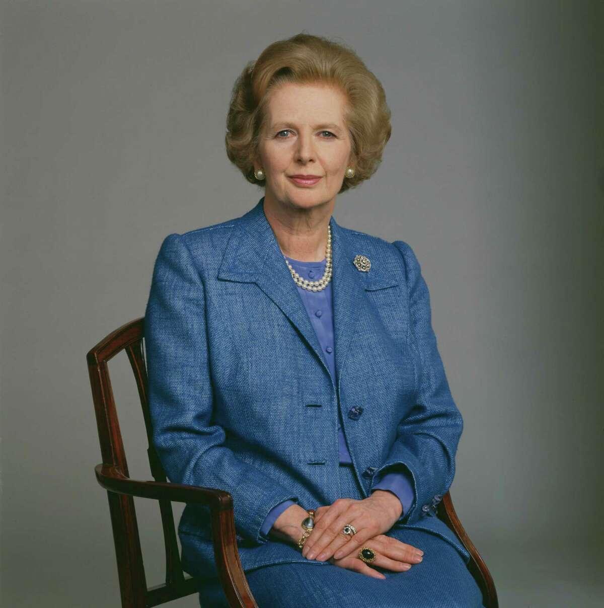 British Prime Minister Margaret Thatcher, circa 1985.