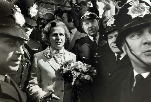 Margaret Thatcher, the Conservative Party leader, looks a little concerned after casting her vote in the General election in 1979. Photo: Rolls Press/Popperfoto, File / Popperfoto