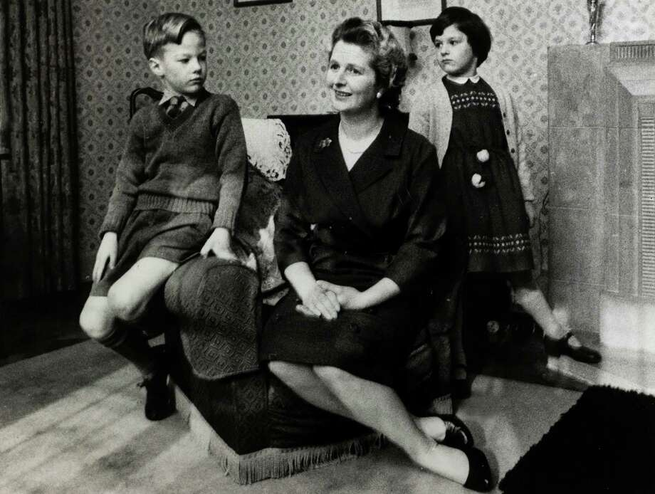 Conservative MP Margaret Thatcher pictured with her two children in 1961. Photo: Popperfoto, File / Popperfoto