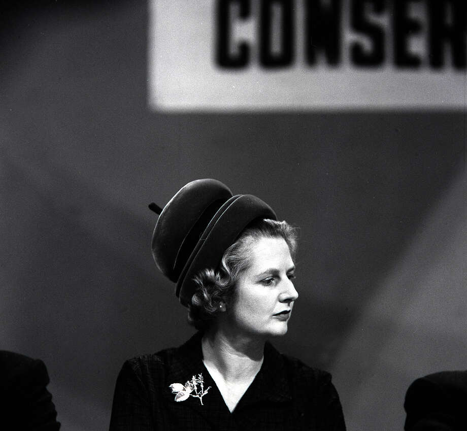 Conservative member of Parliament for Finchley and Joint Parliamentary Secretary, Ministry Pensions and National Insurance, Mrs, Margaret Thatcher, addresses the Conservative Party Conference in 1963. Photo: Popperfoto, File / Popperfoto