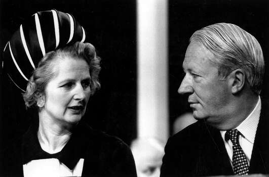 Edward Heath with Margaret Thatcher at the opening session of the Conservative Conference in 1970. Photo: Popperfoto, File / Popperfoto