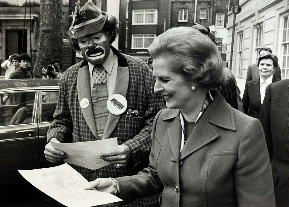 Conservative Party leader Margaret Thatcher on the campaign trail during the General Election campaign, Margaret Thatcher, English Conservative politician, who in 1979 became the first woman to be Prime Minister of Great Britain. Photo: Popperfoto, File / Popperfoto