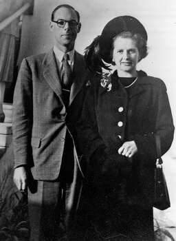 Margaret Hilda Thatcher, nee Roberts, Conservative politician with her husband Denis in 1951. Photo: Keystone Features, File / Hulton Archive