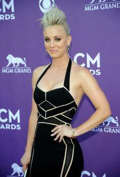 Actress Kaley Cuoco arrives at the 48th Annual Academy of Country Music Awards at the MGM Grand Garden Arena in Las Vegas on Sunday, April 7, 2013. (Photo by Al Powers/Invision/AP) Photo: AP