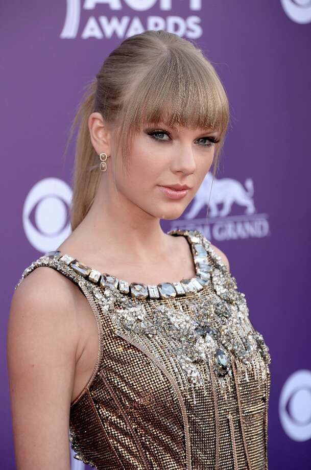 LAS VEGAS, NV - APRIL 07:  Musician Taylor Swift attends the 48th Annual Academy of Country Music Awards at the MGM Grand Garden Arena on April 7, 2013 in Las Vegas, Nevada. Photo: Jason Merritt, Getty Images / 2013 Getty Images