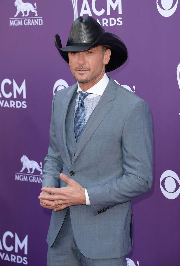 LAS VEGAS, NV - APRIL 07:  Recording artist Tim McGraw arrives at the 48th Annual Academy of Country Music Awards at the MGM Grand Garden Arena on April 7, 2013 in Las Vegas, Nevada. Photo: Jason Merritt, Getty Images / 2013 Getty Images