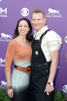 LAS VEGAS, NV - APRIL 07:  Musicians Rory Lee Feek and Joey Martin Feek arrive at the 48th Annual Academy of Country Music Awards at the MGM Grand Garden Arena on April 7, 2013 in Las Vegas, Nevada. Photo: Jason Merritt, Getty Images / 2013 Getty Images