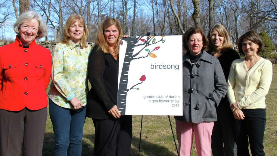 Members of Birdsong Committee are, from left, Janet Sargent, Garden Club of Darien president; Debbie Bussey; Emily D'Andrea; Susan Brewer; Carol Caufield; and Susan Balloch. Photo: Contributed