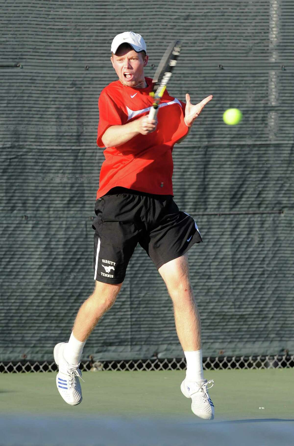 Memorial senior Thomas Pecor is among several Mustang tennis players expected to do well at the upcoming Class 5A-Region III Tennis Tournament at Deer Park April 16-17.