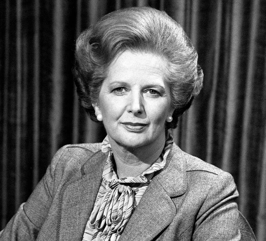"Prime Minister Margaret Thatcher is photographed Aprl 26, 1982, before talking to the BBC TV's ""Panorama"" which went out live from the Whips Office at No 12 Downing Street, where she was interviewed by Richard Lindley and Robert Kee on the Falklands crisis. Baroness Thatcher died this morning, April 8, 2013, following a stroke, her spokesman Lord Bell said. (PA Photos/Abaca Press/MCT) Photo: PA Photos, McClatchy-Tribune News Service / Abaca Press"