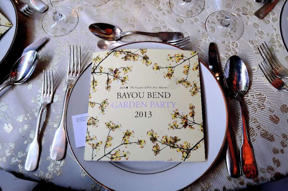 The menu at the annual Bayou Bend Garden Party Sunday April 7, 2013.(Dave Rossman photo) Photo: Dave Rossman, For The Houston Chronicle / © 2013 Dave Rossman